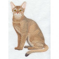 Embroidered Abyssinian Cat