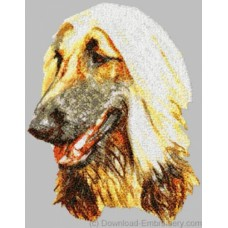 Embroidered Afghan Hound DLE1455