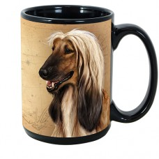 15 oz. Faithful Friends Mug - Afghan Hound