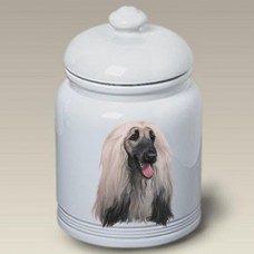 Ceramic Treat Jar (LP) - Afghan Hound 45087
