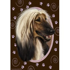 Indoor/Outdoor Paw Print Flag - Afghan Hound (TB)