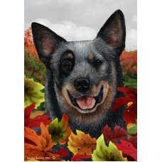 Indoor/Outdoor Fall Flag - Australian Cattle Dog, Blue (TB)