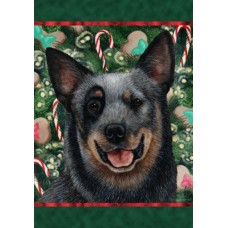Indoor/Outdoor Holiday Flag - Australian Cattle Dog, Blue (TB)