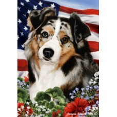 Indoor/Outdoor Flags - Blue Merle Australian Shepherd