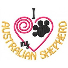 Embroidered Australian Shepherd 1520R - 2