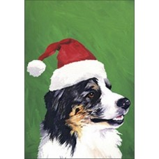 Indoor/Outdoor Christmas Flag (BVV) - Australian Shepherd