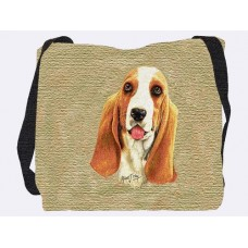 Woven Tote - Basset Hound