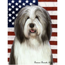 Indoor/Outdoor Flags - Blue and White Bearded Collie