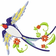 Embroidered Beautiful Birds PE16
