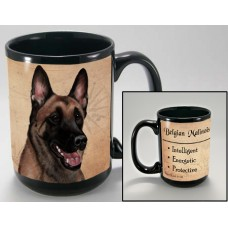15 oz. Faithful Friends Mug - Belgian Malinois