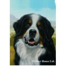 Indoor/Outdoor Portrait Flag (JS) - Bernese Mountain Dog