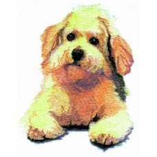 Embroidered Bichon Frise BT2790