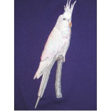 Embroidered White-Faced Cockatiel BT4639