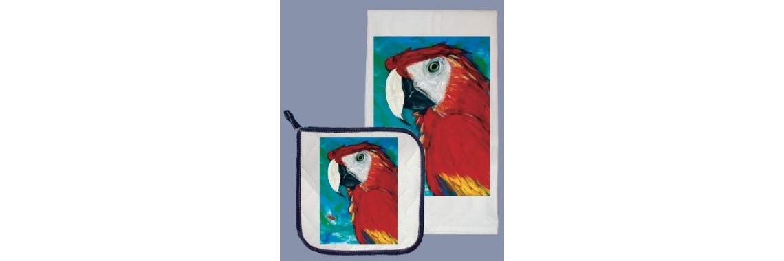 Bird Dish Towels and Dish Towel/Pot Holder Sets