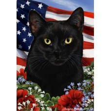 Indoor/Outdoor Patriotic I Flag - Black Cat (TB)