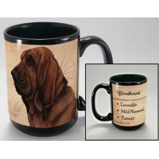 15 oz. Faithful Friends Mug - Bloodhound
