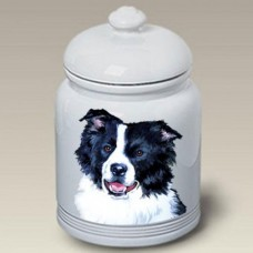 Ceramic Treat Jar (BVV) - Border Collie 23030