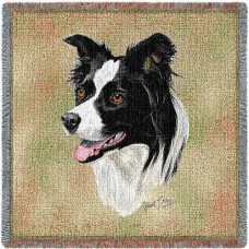 Woven Blanket - Border Collie