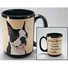 15 oz. Faithful Friends Mug - Boston Terrier