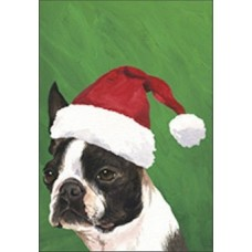 Indoor/Outdoor Christmas Flag (BVV) - Boston Terrier