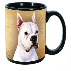 15 oz. Faithful Friends Mug - White Boxer