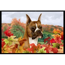 Fall Floor Mat - Fawn Boxer