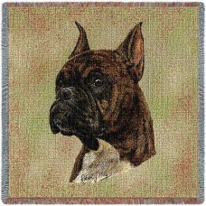 Woven Blanket - Brindle Boxer