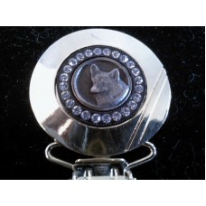 Dog Show Exhibitor Clip Number Holder (Diamonte)  - Corgi