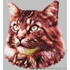 Embroidered Maine Coon Cat DLE2658