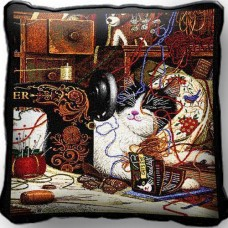Woven Pillow - Maggie the Messmaker