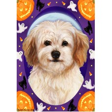 Indoor/Outdoor Halloween Flag - Cavachon (TB)