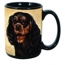 15 oz. Faithful Friends Mug - Black and Tan Cavalier King Charles Spaniel