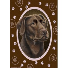 Indoor/Outdoor Paw Print Flag - Chesapeake Bay Retriever (TB)