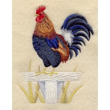 Embroidered Jungle Fowl Rooster A3202