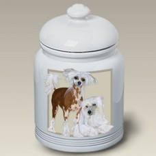 Ceramic Treat Jar (PS) - Chinese Crested 52069