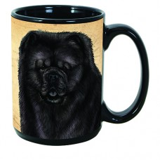 15 oz. Faithful Friends Mug - Chow Chow, Black