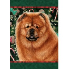 Indoor/Outdoor Holiday Flag - Chow Chow (TB)