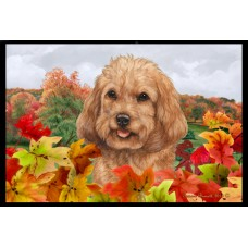 Fall Floor Mat - Red Cockapoo