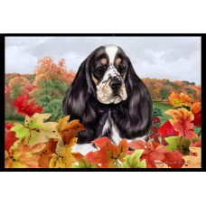 Fall Floor Mat - Parti Cocker Spaniel