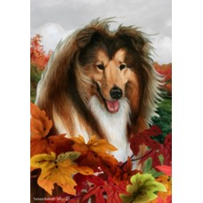 Indoor/Outdoor Fall Flag - Collie (TB)
