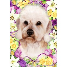 Indoor/Outdoor Easter Flag - Dandie Dinmont Terrier, Mustard (TB)