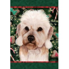 Indoor/Outdoor Holiday Flag - Dandie Dinmont Terrier, Mustard (TB)