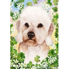 Indoor/Outdoor Clover Flag - Dandie Dinmont Terrier, Mustard (TB)