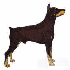 Embroidered Doberman Pinscher AD010