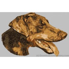 Embroidered Doberman Pinscher DLE3712