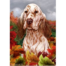 Indoor/Outdoor Fall Flag - English Setter, Orange Belton (TB)