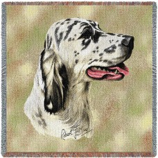 Woven Tote, Blanket or Pillow - Blue Belton English Setter
