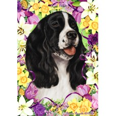 Indoor/Outdoor Easter Flag - English Springer Spaniel, Black and White (TB)