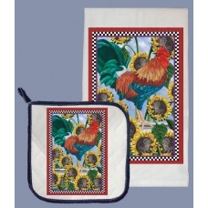 Dish Towel and Pot Holder Set - Rooster