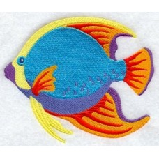 Embroidered Caribbean Tropical Fish #1 A8465